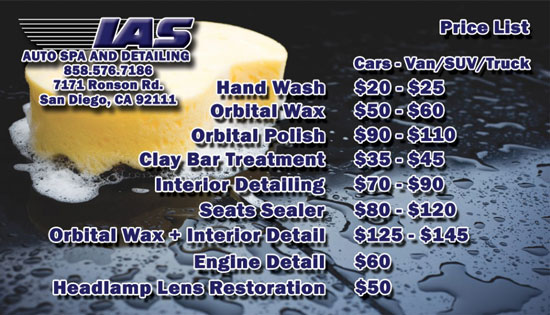 INTRODUCING THE IAS AUTO SPA & DETAILING